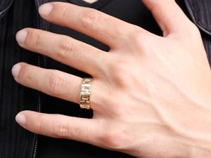[]ペアリング マリッジリング 結婚指輪 結婚記念リング ウェディングリング ウェディングバンド ダイヤモンド イエローゴールドK18 プラチナ PT900 幅広 2本セット【楽ギフ_包装】【コンビニ受取対応商品】