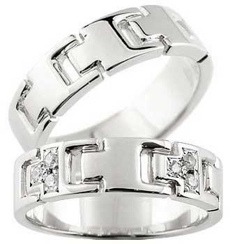 ペアリング マリッジリング 結婚指輪 結婚記念リング ウェディングリング ウェディングバンド ホワイトゴールドk18 18金 ダイヤモンド PT900 幅広 2本セット【コンビニ受取対応商品】 指輪 大きいサイズ対応 送料無料