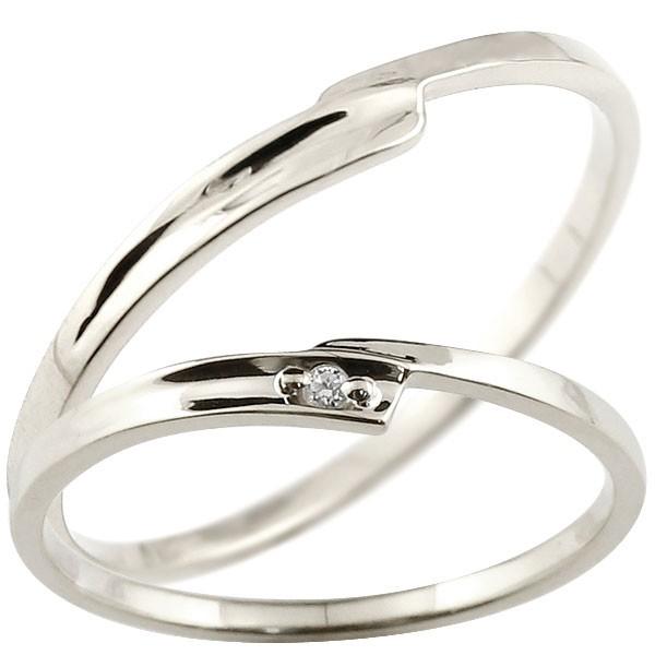 ペアリング マリッジリング ホワイトゴールドk18 リング ダイヤモンド 結婚指輪 結婚記念リング ウェディングリング ブライダルリング 極細 華奢 2本セット 18金【コンビニ受取対応商品】 指輪 大きいサイズ対応 送料無料