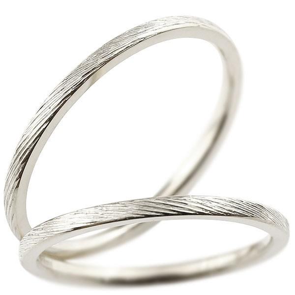 [送料無料]ペアリング マリッジリング 結婚指輪 結婚記念リング ホワイトゴールドk18 リング ウェディングリング ブライダルリング 極細 華奢 アンティーク ストレート 地金リング 宝石なし 2本セット 18金【コンビニ受取対応商品】