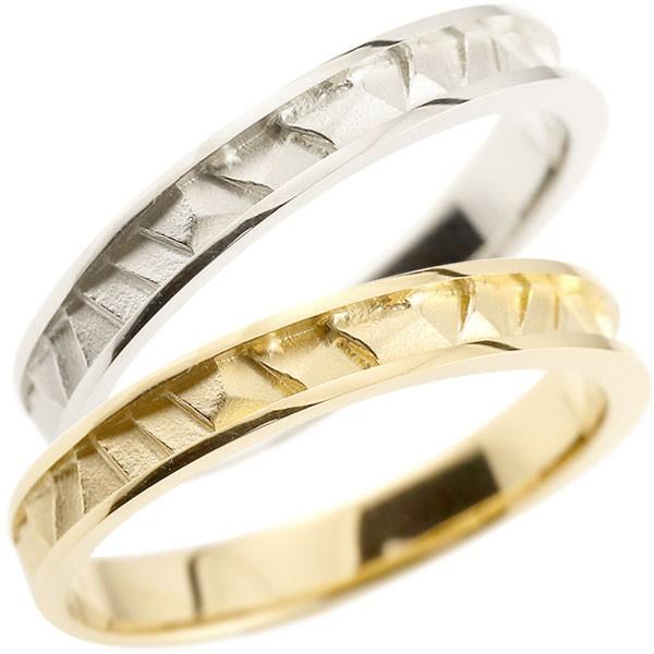 ペアリング マリッジリング 結婚指輪 プラチナ イエローゴールドk18 ストレート 宝石なし 地金 pt900 18金 ブライダルリング 結婚式 結婚記念 裏抜きなし カップル【コンビニ受取対応商品】 指輪 大きいサイズ対応 送料無料