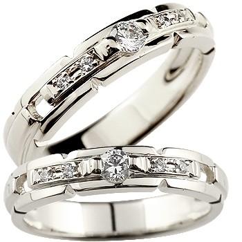 [送料無料] ペアリング ダイヤモンド 結婚指輪 マリッジリング ウェディングリング ウェディングバンド 記念リング 結婚式 ホワイトゴールドk18 ハンドメイド 2本セット 18k 18金【コンビニ受取対応商品】