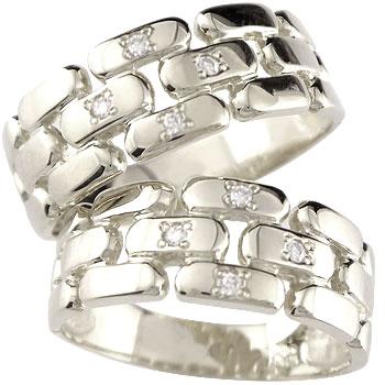 ペアリング プラチナ900 ダイヤ ダイヤモンド 結婚指輪 マリッジリング メッセージ 刻印 文字入れ 名入れ 文字刻印 オリジナルリング 幅広 ハンドメイド 2本セット0824カード分割【コンビニ受取対応商品】 指輪 大きいサイズ対応 送料無料