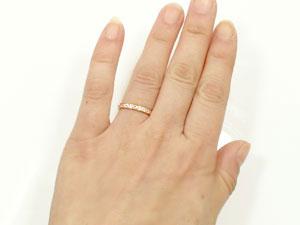 []エタニティリング ペアリング 2本セット ダイヤ ダイヤモンド リング 結婚指輪 マリッジリング ピンクゴールドk18 指輪18k 18金【楽ギフ_包装】【コンビニ受取対応商品】