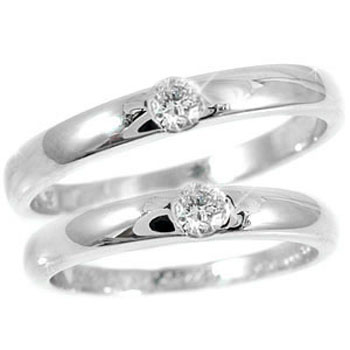 鑑定書付き 結婚指輪 マリッジリング ペアリング ダイヤモンド ホワイトゴールドk18 SIクラス 2本セット18k 18金【コンビニ受取対応商品】 指輪 大きいサイズ対応 送料無料