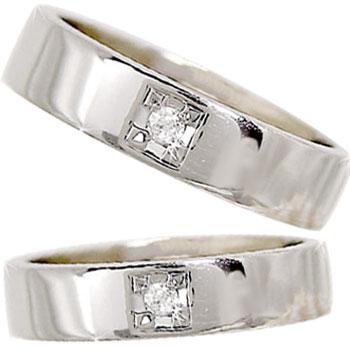 ペアリング プラチナ900ダイヤ ダイヤモンド ソリティア 結婚指輪 マリッジリング 2本セット【コンビニ受取対応商品】 指輪 大きいサイズ対応 送料無料