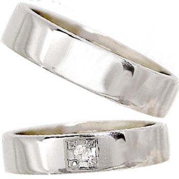 [送料無料]ペアリング プラチナ900ダイヤ ダイヤモンド 結婚指輪 マリッジリング 2本セット【コンビニ受取対応商品】