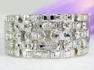 []ペアリング 結婚指輪 マリッジリング ダイヤ ダイヤモンド リングプラチナ900 PT900リング 幅広 2本セット ハンドメイド【楽ギフ_包装】【コンビニ受取対応商品】