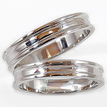 [送料無料]ペアリング ホワイトゴールドk18 結婚指輪 マリッジリング 2本セット 結婚記念リング 2本セット18k 18金【コンビニ受取対応商品】