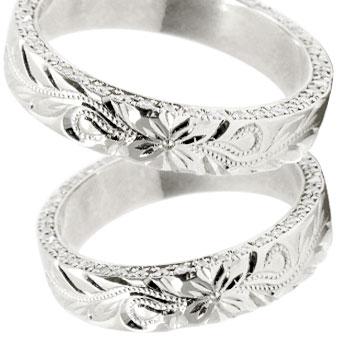 ハワイアンジュエリー ペアリング マリッジリング 結婚指輪 ホワイトゴールドk18 花 葉 マイレ フルエタニティー ダイヤモンド 結婚記念リング ウェディングリング ブライダルリング ハワジュ hawaii 2本セット 幅広 ブライダルジュエリー 指輪 送料無料