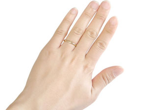 婚約指輪 エンゲージリング 指輪 記念リング ダイヤ ダイヤモンド リング 指輪 イエローゴールドK18 ピンキーリング 一粒ダイヤモンド リング 爪なし 楽ギフ 包装コンビニ受取対応商品大きいサイズ対応 送料無料5A4qR3Lj