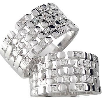 ペアリング 結婚指輪 マリッジリング ダイヤ ダイヤモンド リングプラチナ900 PT900リング 幅広 2本セット ハンドメイド【コンビニ受取対応商品】 指輪 大きいサイズ対応 送料無料
