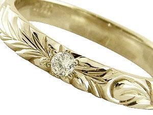ハワイアンペアリング プラチナリング イエローゴールドk18 結婚指輪 k18 ダイヤモンド 一粒ダイヤモンド ダイヤ0 05ct ハワイアンジュエリー2本セット ハワジュ18k 18金ブライダルジュエリー楽ギフ 包装コンビニ受取対応商品指輪 送料無料trdshQ