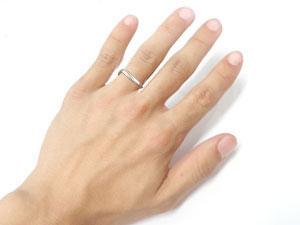 []V字 ペアリング 結婚指輪 マリッジリング ウェディングリング 結婚記念 プラチナ ダイヤモンド 羽 フェザー  ハンドメイド 2本セット【楽ギフ_包装】【コンビニ受取対応商品】