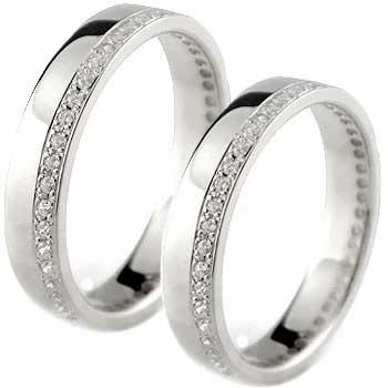 [送料無料]シルバー ペアリング 結婚指輪 マリッジリング SV925 フルエタニティ ダイヤモンド ハンドメイド 2本セット【コンビニ受取対応商品】