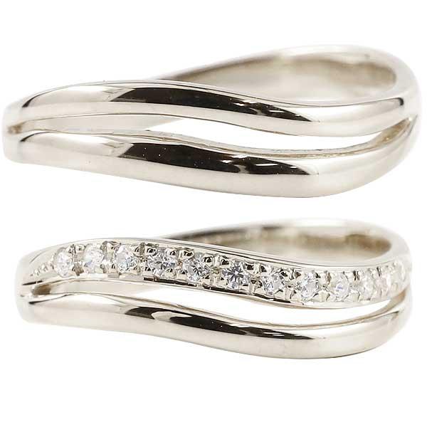 ペアリング プラチナ ダイヤモンド 結婚指輪 マリッジリング ウェディングリング ウェディングバンド 記念リング プラチナリング エタニティリング 指輪 2本セット【コンビニ受取対応商品】 指輪 大きいサイズ対応 送料無料