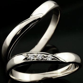 [送料無料]結婚指輪 マリッジリング シルバー ダイヤモンド ダイヤ シルバー925 ペアリング 手作り ハンドメイド 2本セット ブライダルリング ウェディングリング ブライダルジュエリー【コンビニ受取対応商品】