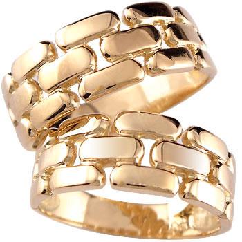 [送料無料]ペアリング ピンクゴールドk18 結婚指輪 マリッジリング k18PG 結婚記念リング 幅広 2本セット 18k 18金【コンビニ受取対応商品】