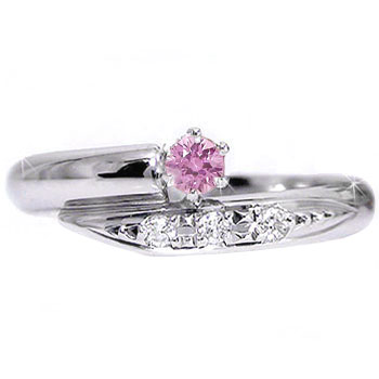 ピンキーリング ピンクサファイア ダイヤモンド リング プラチナリング 指輪 ダイヤ 9月誕生石【コンビニ受取対応商品】 大きいサイズ対応 送料無料