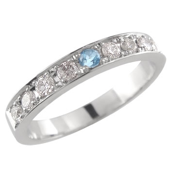 2020年新作 エタニィテリング ダイヤモンドリング 指輪 ブルートパーズ プラチナピンキーリング プラチナ900 11月誕生石【】【コンビニ受取対応商品】 大きいサイズ対応 送料無料, PAWNSHOP RiZ b0d00d48