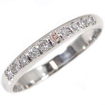 ピンクダイヤモンド リング 指輪 プラチナリング ダイヤモンド ピンキーリング 小指にお守りとして レディース0824カード分割【コンビニ受取対応商品】 大きいサイズ対応 送料無料