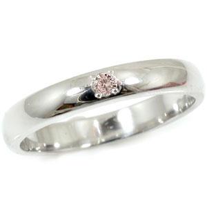 プラチナ 婚約指輪 エンゲージリング 指輪 ピンクダイヤモンド リング 一粒ダイヤモンド サムリング 爪なし レディース 【コンビニ受取対応商品】 大きいサイズ対応 送料無料