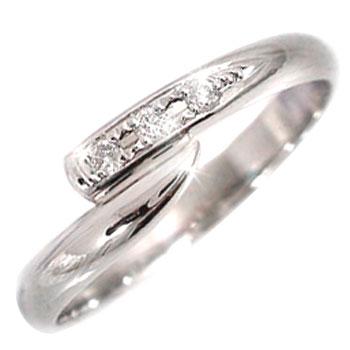ピンキーリング ダイヤモンド リング ダイヤモンド 0.04ctホワイトゴールドk18指輪 ダイヤ18k 18金【コンビニ受取対応商品】 大きいサイズ対応 送料無料