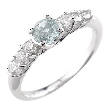 プラチナリング アクアマリン ダイヤモンド0.23ct ピンキーリング 指輪 プラチナ900 3月の誕生石アクアマリン コンビニ受取対応商品 大きいサイズ対応 送料無料 返品OK お配り物 お歳暮