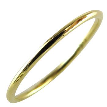 シンプルリング ピンキーリング イエローゴールドk18 指輪 重ね付けリング 地金リング18k 18金【コンビニ受取対応商品】 大きいサイズ対応