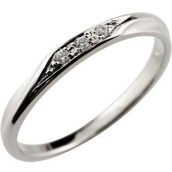 [送料無料]婚約指輪 エンゲージリング シンプルリング ダイヤモンド リング ピンキーリング ホワイトゴールドk18 指輪 華奢リング 重ね付けリング 指輪 細め 細身 18k 18金 つや消し レディース【コンビニ受取対応商品】