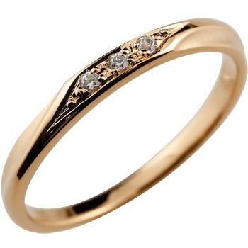 シンプルリング ダイヤモンド リング ピンキーリング ピンクゴールドk10 指輪 華奢リング 重ね付けリング 指輪 細め 細身 10k 10金 つや消し レディース アンティーク0824カード分割【コンビニ受取対応商品】 大きいサイズ対応 送料無料