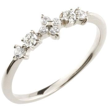 ひし形 ダイヤ型 リング プラチナ ダイヤモンド 4月誕生石 ピンキーリング リング 指輪 重ね付け 華奢 細め 細身 レディース【コンビニ受取対応商品】 大きいサイズ対応 送料無料