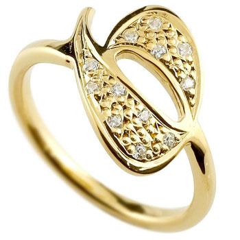 数字 リング ナンバーリング イエローゴールドk18 18金 18k 指輪 ダイヤモンド 6 数字 レディース 0824カード分割【コンビニ受取対応商品】 大きいサイズ対応 送料無料