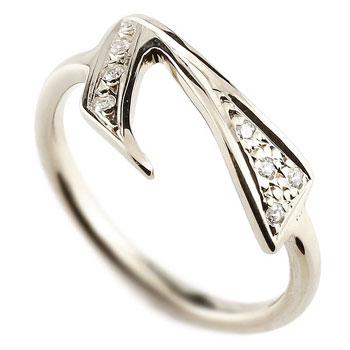 数字 リング ナンバーリング ホワイトゴールドk18 18金 18k 指輪 ダイヤモンド 7 数字 レディース 0824カード分割【コンビニ受取対応商品】 大きいサイズ対応 送料無料