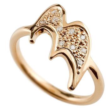 数字 リング ナンバーリング ピンクゴールドk18 18金 18k 指輪 ダイヤモンド 3 数字 レディース 0824カード分割【コンビニ受取対応商品】 大きいサイズ対応 送料無料