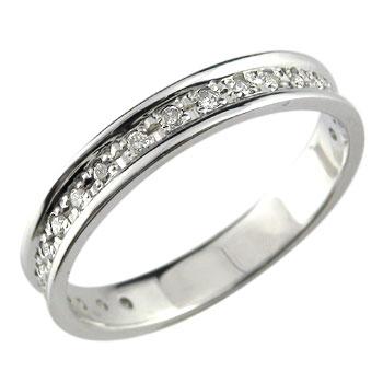 シンプルながらも豪華な仕上がり 婚約指輪 エンゲージリング ダイヤモンド リング 指輪 エタニティリング ホワイトゴールドK18 ダイヤモンドリング レディース【コンビニ受取対応商品】 大きいサイズ対応 送料無料
