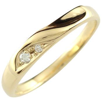 婚約指輪 エンゲージリング ダイヤモンド イエローゴールドk1818k 18金【コンビニ受取対応商品】 大きいサイズ対応 送料無料