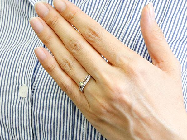 []ウェーブ リング ダイヤモンド リング 指輪 ホワイトゴールドk18 18金 18k ハーフエタニティ 2連リング ペリドット 8月誕生石 ピンキーリング レディース【楽ギフ_包装】【コンビニ受取対応商品】