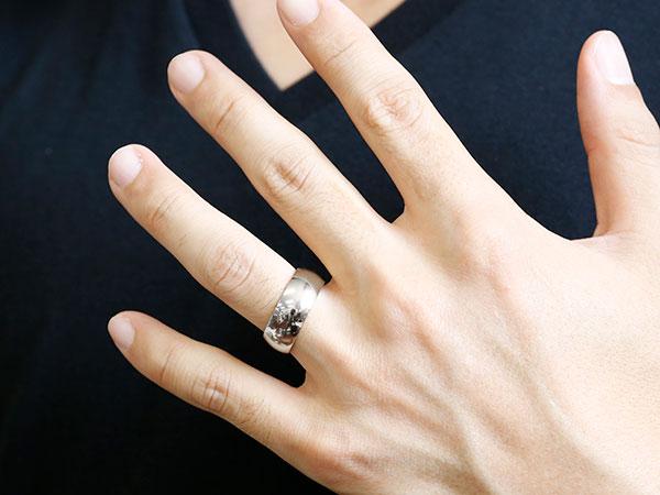 []メンズ 男性用 指輪 鍛造 たんぞう ホワイトゴールドk18 幅広  リング 地金 リング シンプル 宝石なし 大きいサイズ 21号 22号 23号 24号 25号 レディース【楽ギフ_包装】【コンビニ受取対応商品】