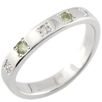 ペリドット 8月の誕生石 リングダイヤモンド ホワイトゴールドk18指輪 ピンキーリング ダイヤ18k 18金【コンビニ受取対応商品】 大きいサイズ対応 送料無料