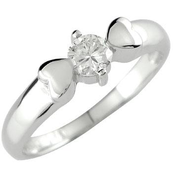 婚約指輪 エンゲージリング ハート プラチナ ダイヤモンドリング 指輪 一粒ダイヤ 大粒ダイヤ 0.25ct ハート【コンビニ受取対応商品】 大きいサイズ対応 送料無料