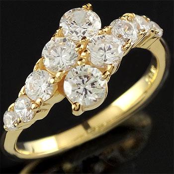 ダイヤモンド リング 婚約指輪 エンゲージリング イエローゴールドk18 レディース18k 18金【コンビニ受取対応商品】 大きいサイズ対応 送料無料