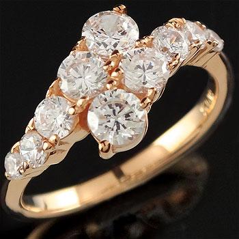 ダイヤモンド リング 婚約指輪 エンゲージリング ピンクゴールドk18 レディース18k 18金【コンビニ受取対応商品】 大きいサイズ対応 送料無料