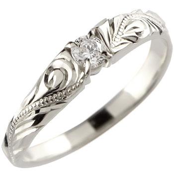 ハワイアンジュエリー ハワイアンリング ダイヤモンドリング ピンキーリング ダイヤモンド リング 指輪 プラチナ レディース【コンビニ受取対応商品】 大きいサイズ対応 送料無料