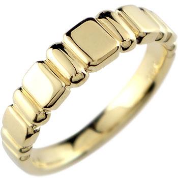 イエローゴールドk18 リング 指輪 ピンキーリング 地金リング18k 18金【コンビニ受取対応商品】 大きいサイズ対応 送料無料