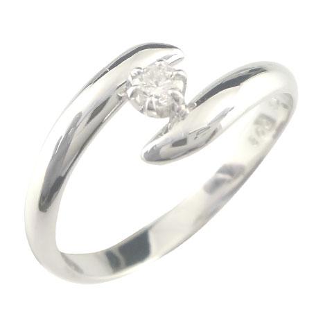 指輪:彼女:妻:プレゼント:送料無料:ダイヤモンド  ダイヤ ダイヤモンド リング ホワイトゴールドK18 一粒ダイヤモンド指輪 婚約指輪 エンゲージリング ピンキーリング 指輪【コンビニ受取対応商品】 大きいサイズ対応 送料無料