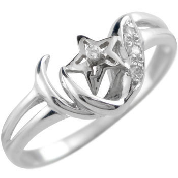 プラチナ ダイヤモンド リング 指輪 星 スター レディース【コンビニ受取対応商品】 大きいサイズ対応 送料無料