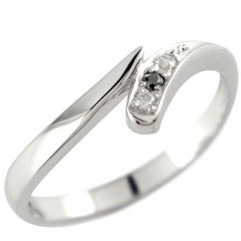 プラチナ ダイヤモンド リング ブラックダイヤ 指輪 レディース【コンビニ受取対応商品】 大きいサイズ対応 送料無料
