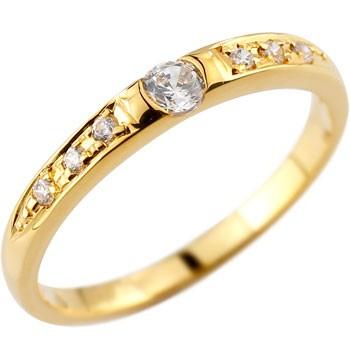 上品な煌めきと清楚な輝きが品格と華やかさをプラス ダイヤモンドリング 婚約指輪 エンゲージリング イエローゴールドk18 レディース18k 18金【コンビニ受取対応商品】 大きいサイズ対応 送料無料