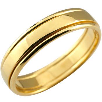 シンプル イエローゴールドk18 リング 指輪 ピンキーリング 地金リング 宝石なし レディース メンズ18k 18金【コンビニ受取対応商品】 大きいサイズ対応 送料無料